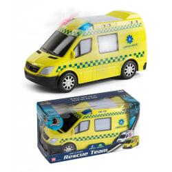 Vn Leksaker Bilar Cars Gul Ambulans Van Light & Sounds 20cm