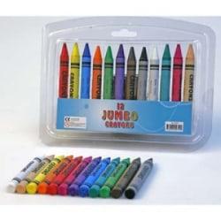 Leksaker Pyssel NBA Kritor Jumbo Crayons 12st Färger 10cm