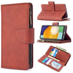 BINFEN Color 2in1 Big Magnet Plånbok Samsung A52/A52S - Brun Brun