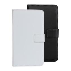 Plånboksfodral Äkta Skinn Google Nexus 6 - fler färger Svart