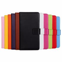 Plånboksfodral Äkta Skinn Samsung J7 2016 - fler färger Brun