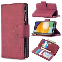 BINFEN Color 2in1 Big Magnet Plånbok Samsung A52/A52S - Röd Röd