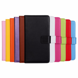 Plånboksfodral Äkta Skinn Moto Z - fler färger Vit