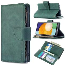 BINFEN Color 2in1 Big Magnet Plånbok Samsung A52/A52S - Grön Grön