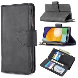 BINFEN Color 2in1 Big Magnet Plånbok Samsung A52/A52S - Svart Svart