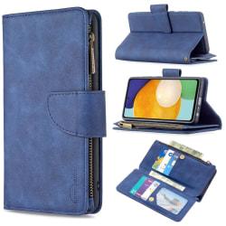 BINFEN Color 2in1 Big Magnet Plånbok Samsung A52/A52S - Blå Blå