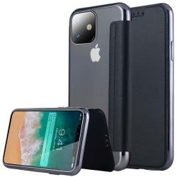 iPhone 11 Pro Max Plånboksfodral TPU Ultraslim design - fler fär Svart