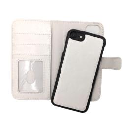 """Magnetskal/plånbok """"2 i 1"""" iPhone 7/8 - fler färger Vit"""