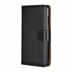 Plånboksfodral Äkta Skinn Xiaomi Redmi Note 8 Pro - fler färger Svart