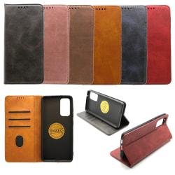 Plånboksfodral Premium Samsung S20 FE - fler färger Mörkbrun