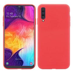 Samsung A70 Ultratunn Silikonskal - fler färger Röd