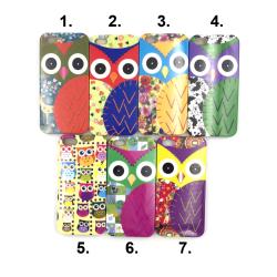 Skal till iPhone 5/5S/SE med motiv av ugglor MultiColor Motiv 2