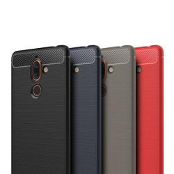 Stöttåligt Armor Carbon TPU-skal Nokia 7 Plus - fler färger Röd