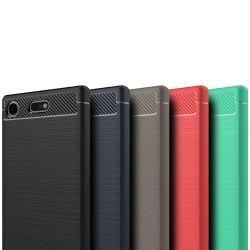 Stöttåligt Armor Carbon TPU-skal Sony Xperia XZ1 Compact - fler  Svart