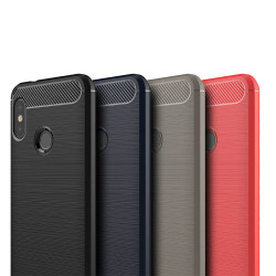 Stöttåligt Armor Carbon TPU-skal Xiaomi Mi A2 Lite - fler färger Svart