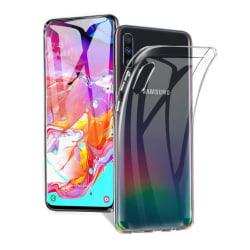 Transparent Silikon TPU-Skal till Samsung A70 Transparent