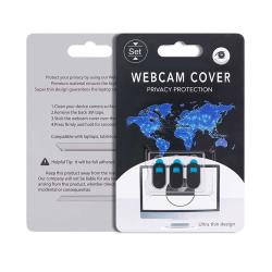 3-pack Integritetsskydd för Webbkamera Dator Surfplatta Mobil svart