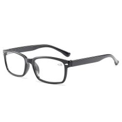 Smala Svarta Läsglasögon Styrka 2.0 Glasögon svart