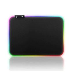 Gaming LED RGB Musmatta 35x25cm svart