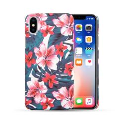 iPhone 7 8 Plus Mobilskal Jungel Tropical Blossom Blommor flerfärgad