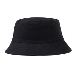 Svart Fiskehatt Bucket Hat Mössa Hatt svart one size
