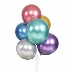 50-pack Ballonger Metallic i Blandade Färger Fest Födelsedag flerfärgad