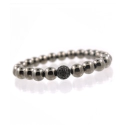 Elegant och Stilrent Armband Lux Macrame Kopparkulor (Svart) svart