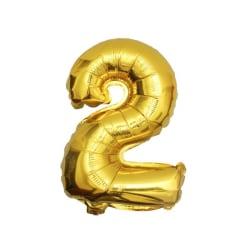 Stor Sifferballong i Guld för Födelsedag Fest 102cm - 2 guld
