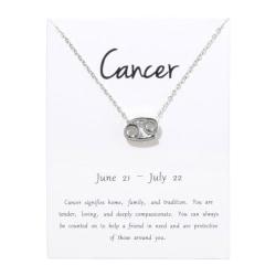 Gåvohalsband Stjärntecken Kräftan Cancer Halsband silver