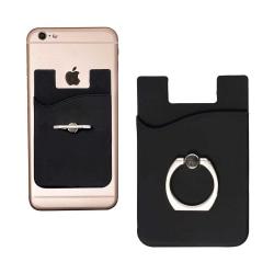 Universal Korthållare med Ring för Mobiltelefon Svart svart