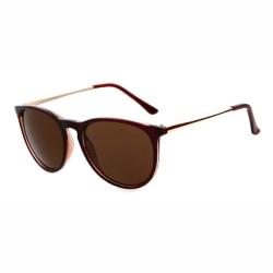 Retro Solglasögon Brun Brunt Glas brun
