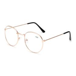 Retro Runda Läsglasögon Glasögon Styrka 2.0 Guld guld