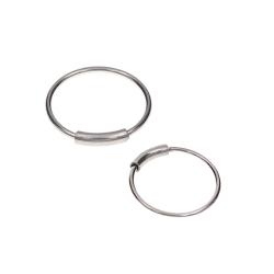 2-pack Silver Fake Piercing Öron Läpp Näsring Septum Läppring silver