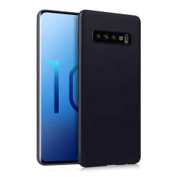 Tunt Svart Galaxy S10 Plus Skal Mobilskal 1mm TPU svart