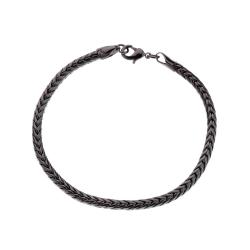 Armband Kedja Svart Gunmetal Herrarmband Länk svart