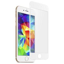 iPhone 6/6s Skärmskydd Kolfiber Härdat Glas Vit vit
