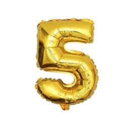 Stor Sifferballong i Guld för Födelsedag Fest 102cm - 5 guld