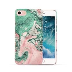 iPhone 7 8 Mobilskal Rosa Grön Färgad Marmor Färgstänk flerfärgad