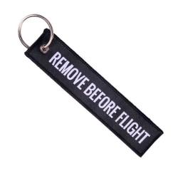 Nyckelring Remove Before Flight Pilot Bomberjacka - Svart svart