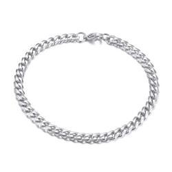 Pansarlänk Armband Kedjearmband Silver 5mm silver