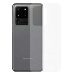 Galaxy S20 Ultra Kolfiber Vinyl Skin Dekal Skyddsfilm Baksida transparent
