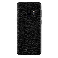 Galaxy S9 Ormskinn Skyddsplast Skin Wrap Baksida svart