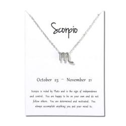 Gåvohalsband Stjärntecken Skorpionen Scorpio Halsband silver