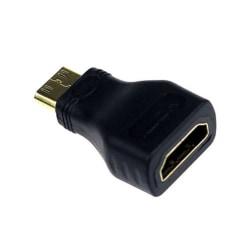 Guldpläterad Micro HDMI till HDMI Adapter 1080p 4K UHD 3D TV svart