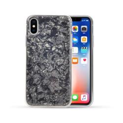 iPhone 7 8 Plus Mobilskal Svart Genomskinlig Diamant Mönster svart