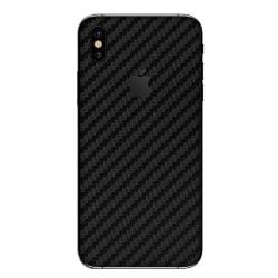 iPhone X Kolfiber Skin Skyddsplast Baksida transparent