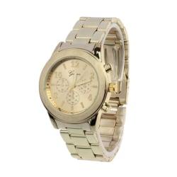 Klassisk Elegant Klocka i Känd Modell (Guld) guld