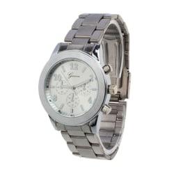 Klassisk Elegant Klocka i Känd Modell (Silver) silver