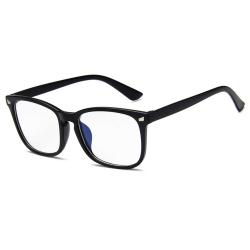 Matta Svarta Datorglasögon med Blåljusfilter utan Styrka svart