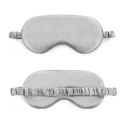 Mjuk Sovmask Ögonmask i Silke Flyg Resor - Grå grå